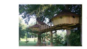 dormir dans cabannes sur arbres